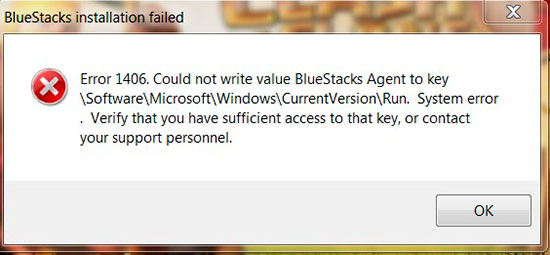 error-1406-bluestacks